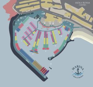 Planimetria Porto Isola Rossa