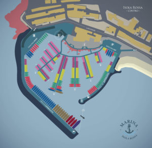 Planimetria Porto Marina Isola Rossa
