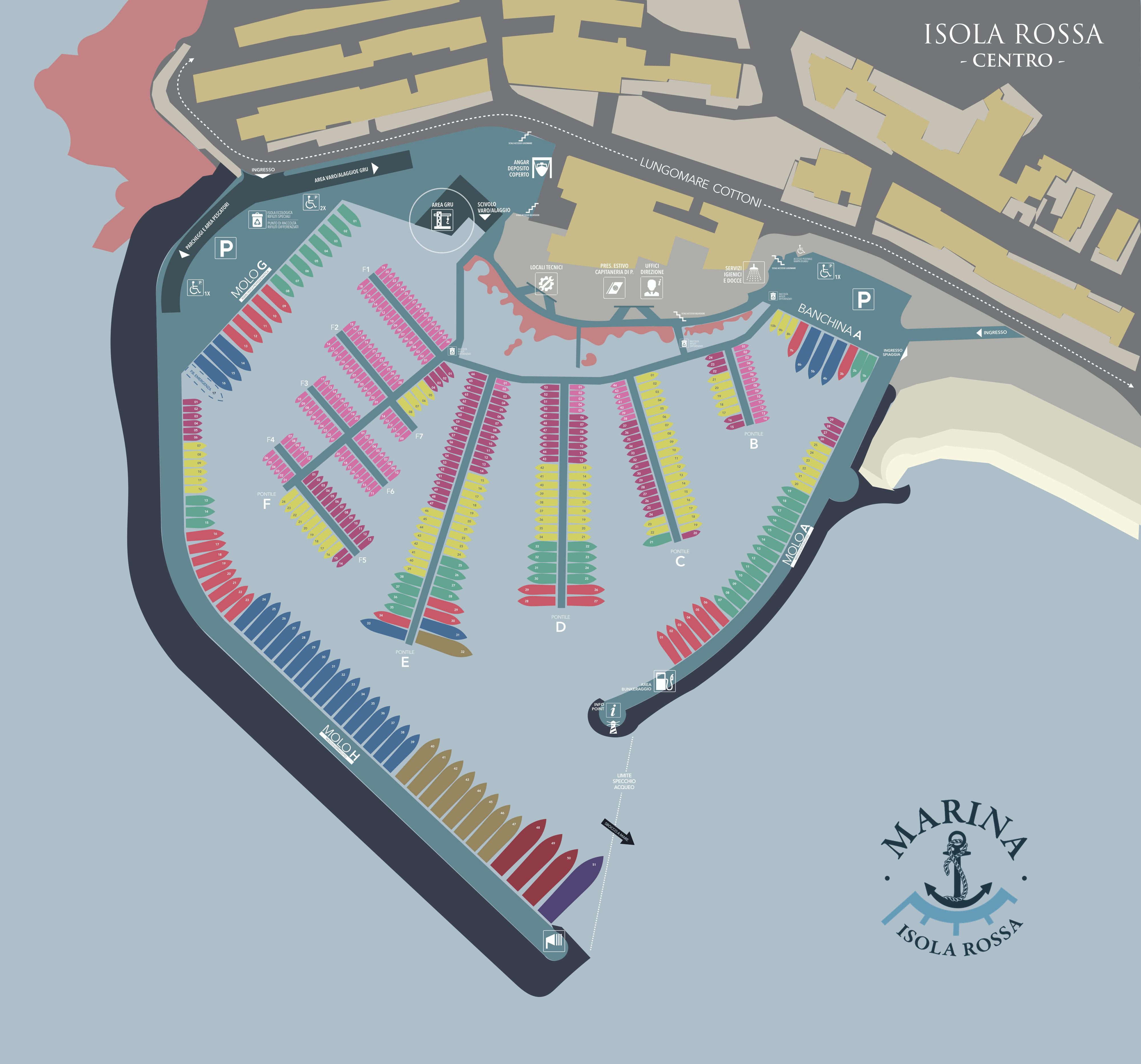 PlanimetriaPorto Isola Rossa